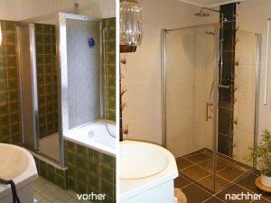 Vorher/Nachher - Badsanierung in Weinheim